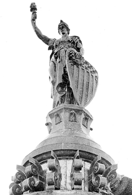 Montana, statue on top of State Capitol dome